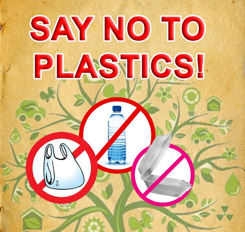 urging students to say no to plastic bags
